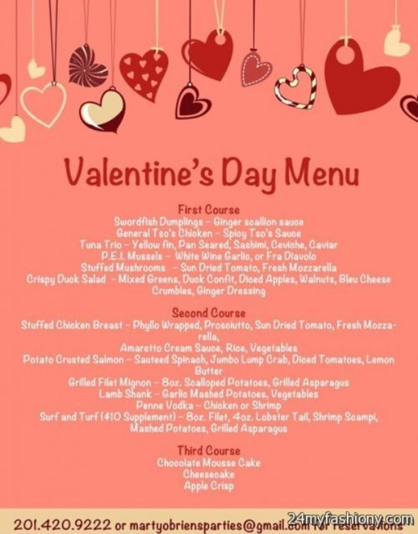 Valentines Day Menu images 2016-2017 B2B Fashion - valentines day menu template