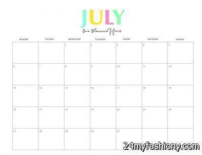 Free July Calendar images looks B2B Fashion