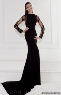 Black Long Sleeve Prom Dresses 2017 - Discount Evening Dresses