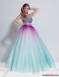 blue and white ombre quinceanera dresses 2016-2017 | B2B ...