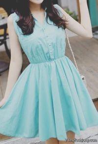 cute casual blue dresses tumblr 2016-2017 | B2B Fashion