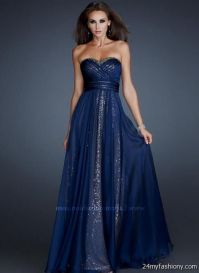 dark blue prom dress strapless 2016-2017 | B2B Fashion