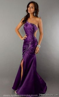 dark purple mermaid prom dress 2016-2017 | B2B Fashion