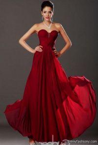 dark red strapless prom dress 2016-2017 | B2B Fashion