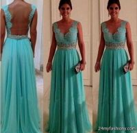 light teal lace bridesmaid dresses 2016-2017 | B2B Fashion