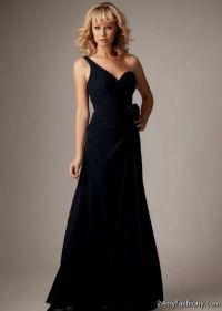 long black one shoulder bridesmaid dresses 2016-2017 | B2B ...