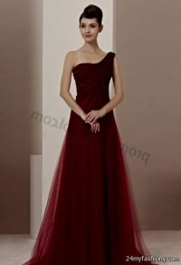 long dark red prom dresses with sleeves 2016