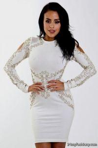 long sleeve white cocktail dresses 2016