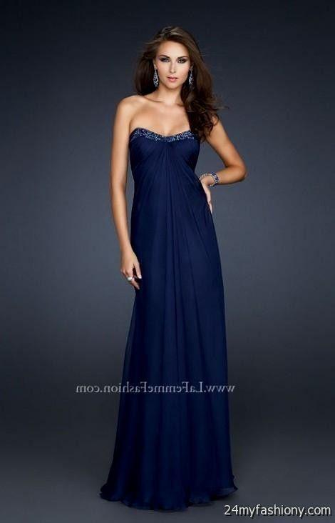Formal Dresses Navy Blue