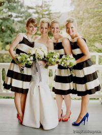 navy striped bridesmaid dresses 2016-2017 | B2B Fashion