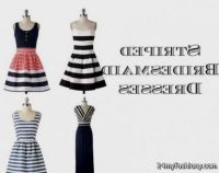 Navy And White Striped Bridesmaid Dresses - Wedding ...