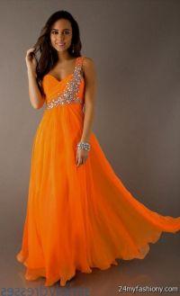 neon orange bridesmaid dresses 2016-2017 | B2B Fashion