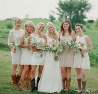 Lace Bridesmaid Dresses With Cowboy Boots - Bridesmaid Dresses