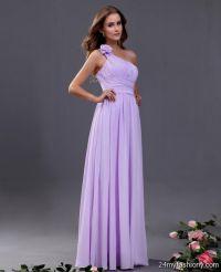 one shoulder lavender bridesmaid dresses 2016