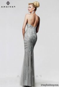 prom dresses silver 2016