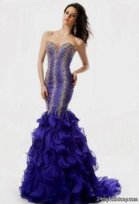 purple sequin mermaid prom dress 2016-2017 | B2B Fashion