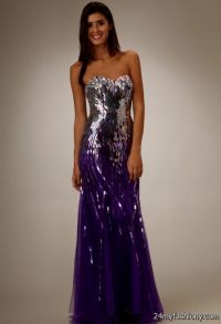 purple sequin prom dress 2016-2017 | B2B Fashion
