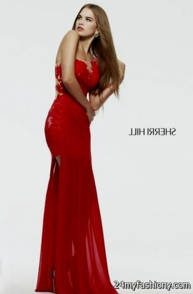 Red Lace Sherri Hill Prom Dresses Looks B2b Fashion