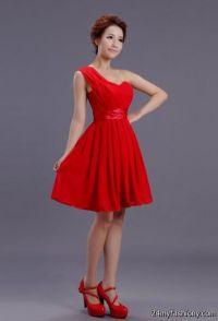 short chiffon coral bridesmaid dresses 2016-2017 | B2B Fashion