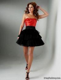 short red and black bridesmaid dresses 2016