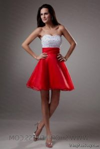 red and white bridesmaid dresses - Dress Yp