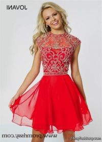 short red prom dresses with sleeves 2016-2017 | B2B Fashion