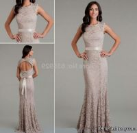 Taupe Lace Wedding Dress | www.pixshark.com - Images ...