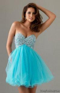 Baby Blue Short Dresses For Prom | www.pixshark.com ...