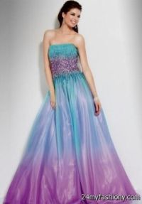 Blue And Purple Ombre Quinceanera Dresses | www.pixshark ...