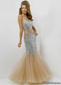 blush mermaid prom dress 2016-2017 | B2B Fashion