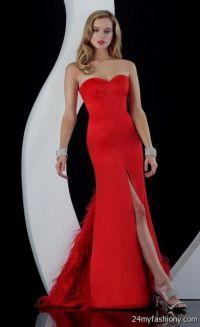 long red prom dresses with slits 2016-2017 | B2B Fashion