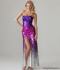 Purple Sequin Prom Dress | www.imgkid.com - The Image Kid ...