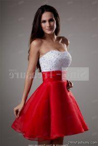 short red and white prom dresses 2016-2017 | B2B Fashion