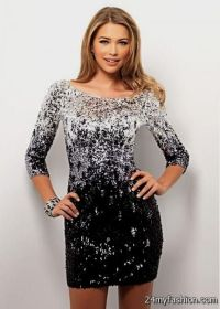 Black And Silver Sequin Prom Dress | www.imgkid.com - The ...