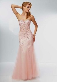 blush colored mermaid prom dress 2016-2017 | B2B Fashion