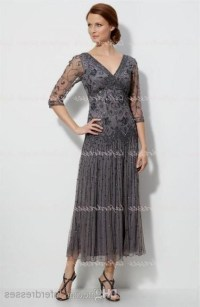 mother of the bride tea length dress - Dress Yp