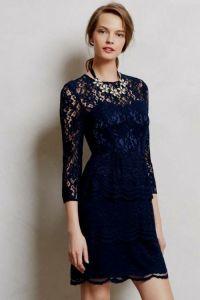 navy blue lace bridesmaid dress 2016-2017 | B2B Fashion