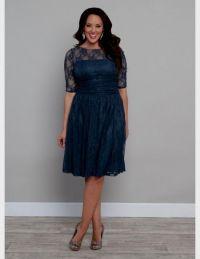 plus size teal lace dress 2016