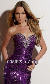 purple sequin prom dress 2016-2017 | B2B Fashion