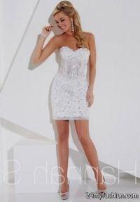 white short fitted prom dress 2016-2017 | B2B Fashion