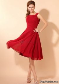 Red mother of the bride dresses 2017