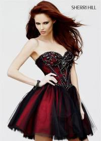 cocktail dress black and red | B2B Fashion