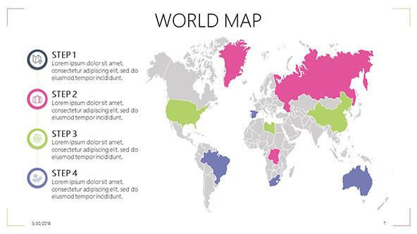 World Map Free PowerPoint Template