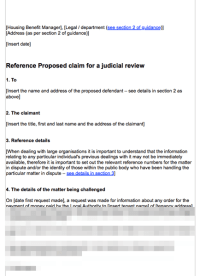 Judicial Review Pre Action Refusal to Supply Housing ...