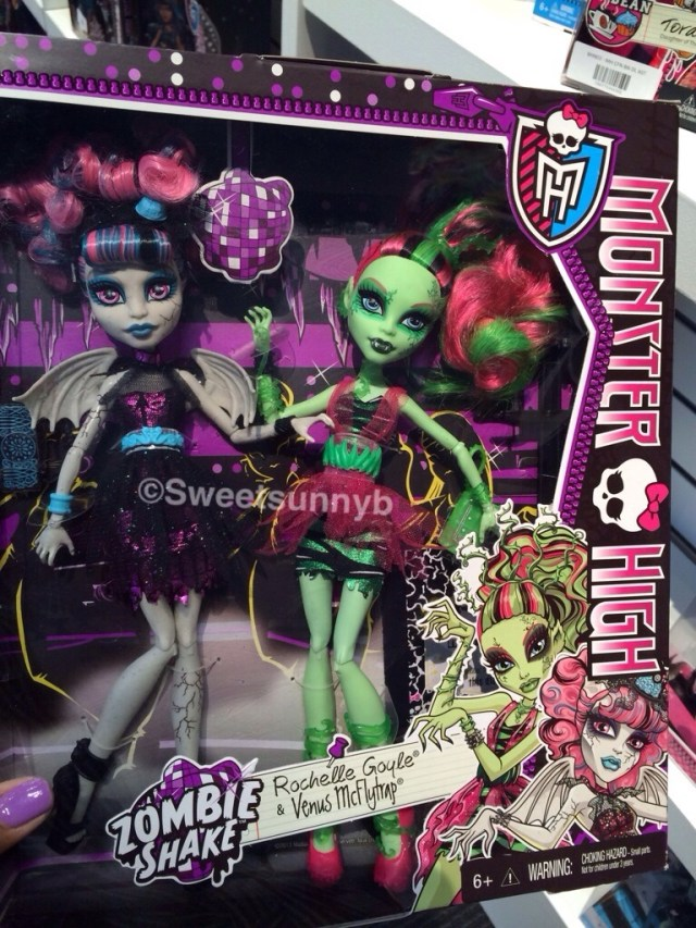 Zombie Shake Monster High Venus McFlytrap Rochelle Goyle Toy Fair 2014