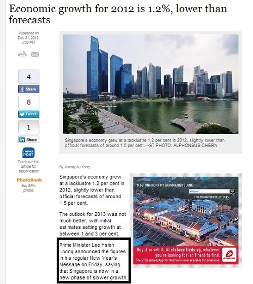 Straits Times report