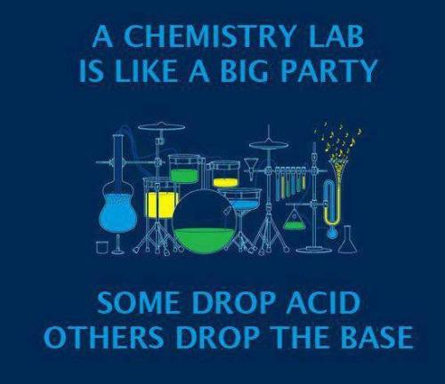 party acid science chemistry party hard science jokes base