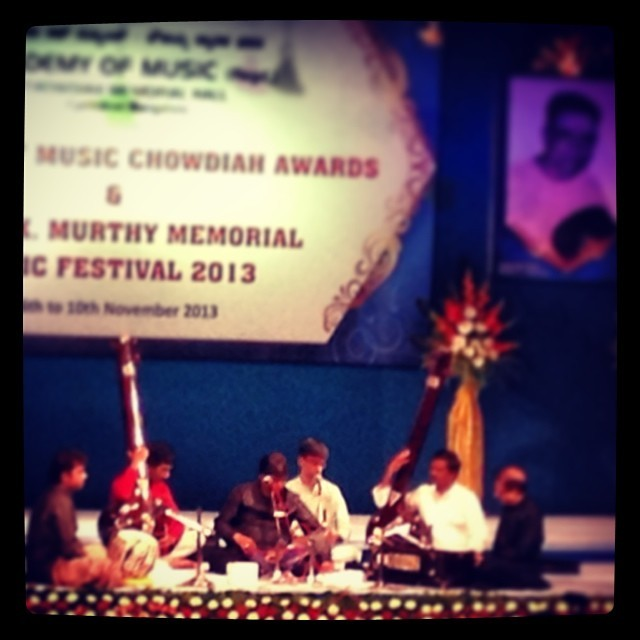 Ustad Rashid Khan in recital, #Bengaluru #India (at Chowdiah Memorial Hall)