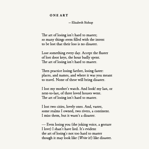 One Art by Elizabeth Bishop Poetry Foundation Quotes - rn resume sample