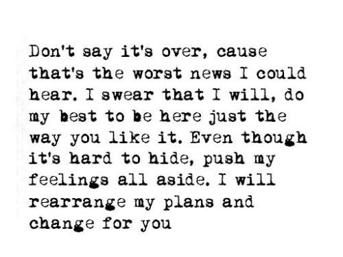 I would rearrange my plans and change for you \/\/ If Itu0027s the - repair quote